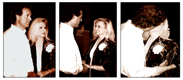 Wedding day sepia 4 triptych