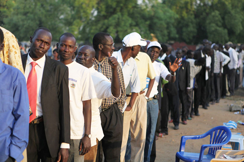Voting in Sudan